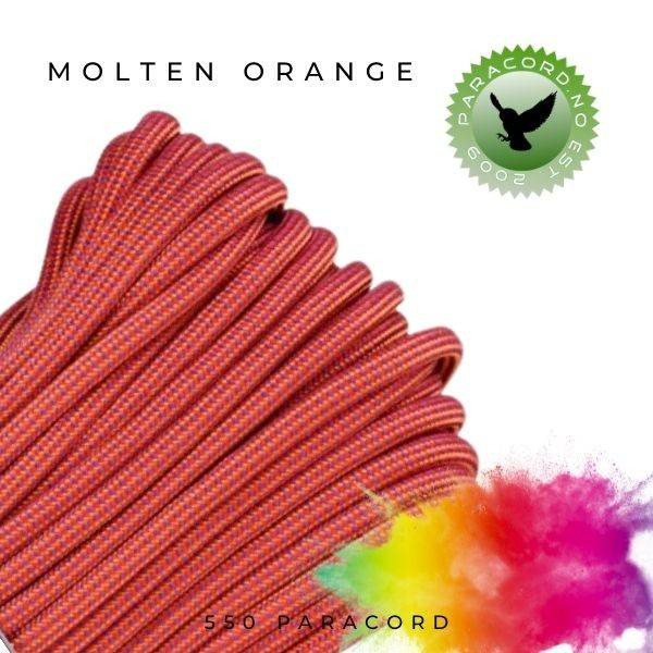Molten Orange 550 Paracord